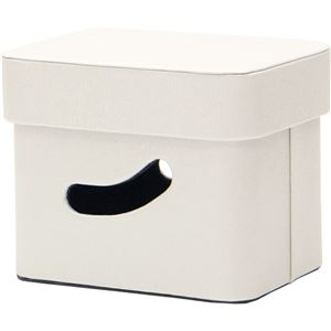 【2個セット】 マルチ収納ボックス/収納箱 【スモール ホワイト】 フタ付き 幅18cm 『ルコット』