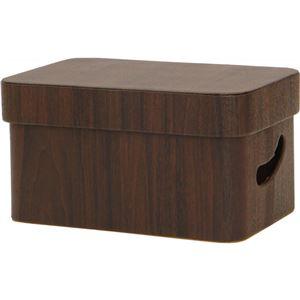 【2個セット】 マルチ収納ボックス/収納箱 【レギュラー ブラウン】 フタ付き 幅27cm 『ルコット』