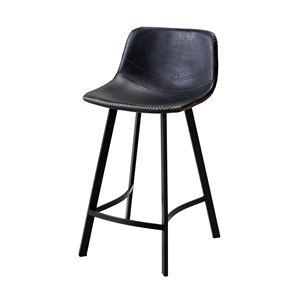 モダンカウンターチェア/ハイチェア【ブラウン】座面高さ:60cm固定型張地:合成皮革/合皮スチールフレーム