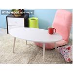 テーブル IW-202 WH(ホワイト)(本体)幅900×奥行500×高さ325mm の画像