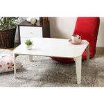 折れ脚テーブル IW-7550 WH(ホワイト)(本体)幅750×奥行600×高さ320mm の画像