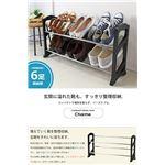 スリム シューズラック/靴収納棚 【6足収納】 幅71cm×奥行20cm 組み立て簡単の画像