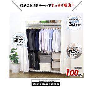 カーテン付きハンガーラック/衣類収納 【幅121cm】 キャスター付き スチールラック 洗えるカバー