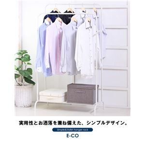 パイプハンガーラック/衣類収納 【ダブルタイプ】 幅90cm 収納棚付き