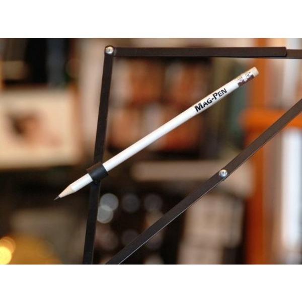 マグネットペン/磁石付き鉛筆 【黒 10箱セット】 長さ19.3cm 型番:MP-6 〔楽器アクセサリー 譜面〕