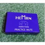 消音(弱音)ミュート/弦楽器用品 【バイオリン・ビオラ用 3個セット】 型番:PM-01 『詩門 HEMAN』