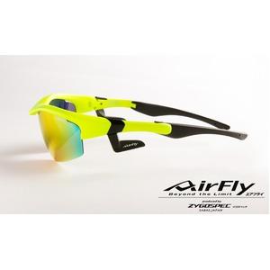 AirFly(エアフライ)ノーズパッドレススポーツサングラス ユニセックス マットネオンイエロー AF-201 C2