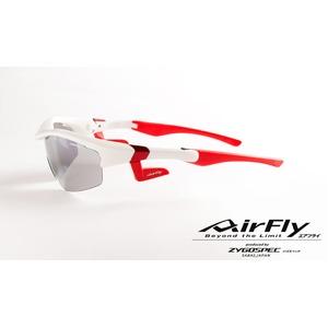AirFly(エアフライ)ノーズパッドレススポーツサングラス ユニセックス マットホワイト AF-201 C3