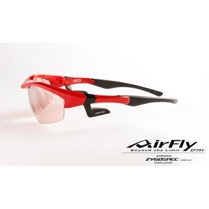 AirFly(エアフライ)ノーズパッドレススポーツサングラス ユニセックス ブライトレッド AF-201 C4