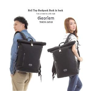 【Georiem】 ジェオリエム ロールトップリュック ブラック