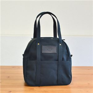 leonde4号帆布ボストンバッグ/ブラック【日本製】