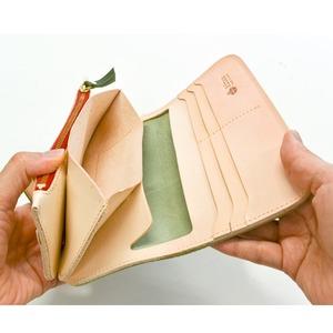 Ritonモレッティレザー財布/オリーブ(日本製)