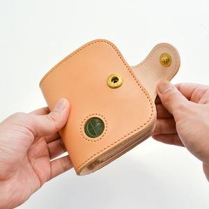 Ritonモレッティレザー二つ折り財布/ナチュラル(日本製)