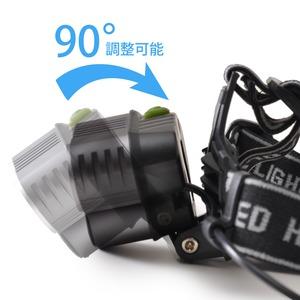 Tomo Light(トモライト) LEDヘッドライト 充電式 ヘッドライト 対防水コーティング ヘッデン 高輝度LED 3734ルーメン仕様 5点灯 防災 釣り 夜釣り【2個セット】