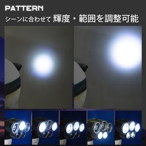 Tomo Light(トモライト) LEDヘッドライト 充電式 ヘッドライト 対防水コーティング ヘッデン 高輝度LED 3734ルーメン仕様 5点灯 防災 釣り 夜釣り【3個セット】