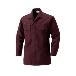 村上被服製 サージ素材の作業着 2301シャツ 紫鳶(むらさきとび) Mサイズ