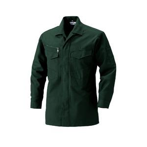【村上被服製】 シャツ/作業着 【深緑(ふかみどり) L】 サージ素材 ポリエステル レーヨン 2300series 2301