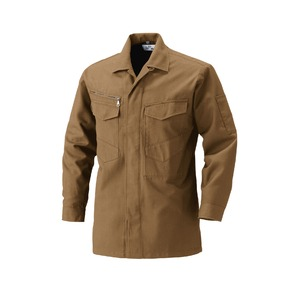 村上被服製 サージ素材の作業着 2301シャツ 小麦(こむぎ) 5Lサイズ