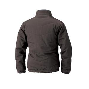 村上被服製 6233 ソフト綿素材・保温裏アルミ 防寒ブルゾン ブラック L