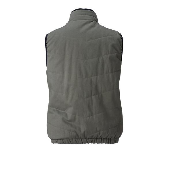 村上被服製 6299 ソフト綿素材・保温裏アルミ 防寒ベスト OD 5L
