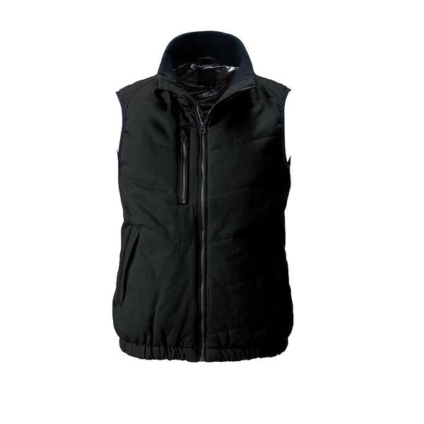 村上被服製 6299 ソフト綿素材・保温裏アルミ 防寒ベスト ブラック M
