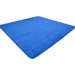 なめらか軽量ラグマット/絨毯【約3畳約185cm×230cmネイビー】長方形洗えるホットカーペット床暖房対応〔リビング〕