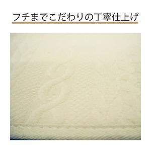 ニット柄ラグ シフォン ラグ マット/絨毯 【ベージュ 約3畳 約185cm×230cm】 洗える ホットカーペット 床暖房対応 『シフォン』