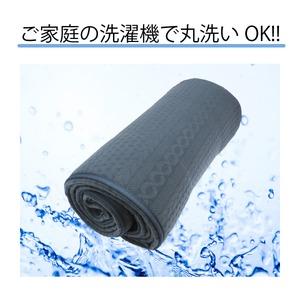 ニット柄ラグ シフォン ラグ マット/絨毯 【グレー 約3畳 約185cm×230cm】 洗える ホットカーペット 床暖房対応 『シフォン』