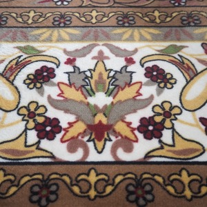 極厚エレガント デザインラグ ラグ マット/絨毯 【 約3畳 約200cm×250cm】  ホットカーペット 床暖房対応 『ダンテ』
