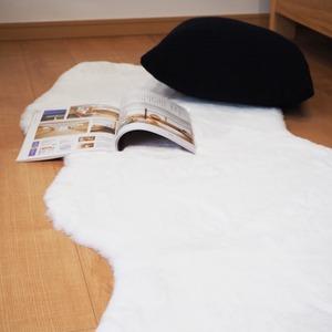 フェイクファーラグマット/絨毯フェイクファーマット約60×180cm『ペコラ』