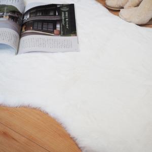 フェイクファー ラグ マット/絨毯 フェイクファーマット 約60×180cm 『ペコラ』
