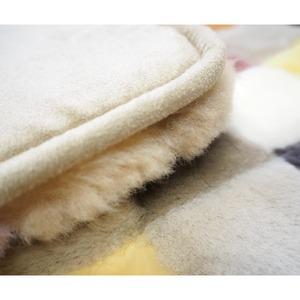 天然素材 モザイク柄 北欧風 ムートンクッション クッション/座布団【単品】カラフル アソート40×40cm