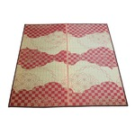 い草ラグ WATSUMUGI ラグマット/絨毯 【レッド 約3畳 約176cm×220cm】防カビ加工 『わつむぎ』