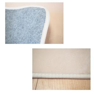 なめらかパウダータッチラグ 軽量 ラグマット/絨毯 【約3畳 約185cm×230cm ベージュ 】 長方形 洗える ホットカーペット 床暖房対応 フランネルラグ