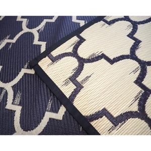 国産い草100% い草ラグ フェズ ラグマット/絨毯 【ブラック 約191cm×191cm】防カビ加工 『フェズ』
