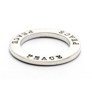 PEACE・メッセージシルバーペンダント40cmチェーン付きZZPS-455s-c40