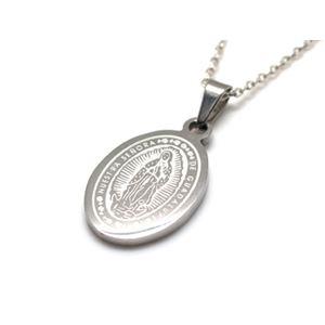 グアダルーペの聖母×マリアメダイ・ステンレスペンダント40cmチェーン付きZZPST-041bs-c40