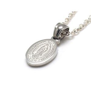 グアダルーペの聖母×マリアメダイ・ステンレスペンダント50cmチェーン付きZZPST-041bxs-c50