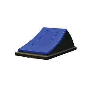 【本体別売】エコンダストボックス#45黒蓋単品【ブルーもえないゴミ用プッシュ】シール1枚入〔店舗オフィス施設〕