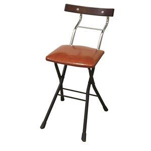 折りたたみ椅子【リザードブラウン×ブラック+ダークブラウン】幅36cm日本製スチールパイプ『ロイドチェア』