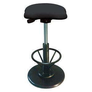 モダンスツール/丸椅子【フットレスト付きブラック×ブラック】幅33cm日本製『ツイストスツールラフレシア3R』