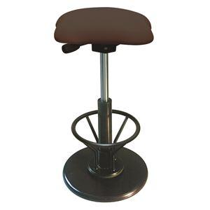モダンスツール/丸椅子【フットレスト付きブラウン×ブラック】幅33cm日本製『ツイストスツールラフレシア3R』