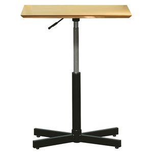 昇降サイドテーブル 【ナチュラル×ブラック】 幅60cm 日本製 木製 スチールパイプ 耐荷重30kg 『ブランチ ヘキサテーブル』