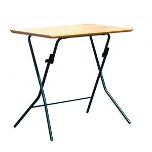 折りたたみテーブル 【幅75cm ナチュラル×ブラック】 日本製 木製 スチールパイプ 『スタンドタッチテーブル755』