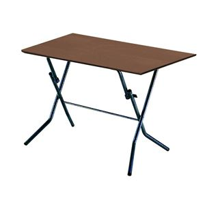 折りたたみテーブル 【幅90cm ダークブラウン×ブラック】 日本製 木製 スチールパイプ 『スタンドタッチテーブル900』
