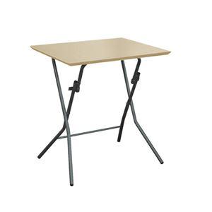 折りたたみテーブル 【幅63.5cm ナチュラル×ブラック】 日本製 木製 スチールパイプ 『スタンドタッチテーブル645』