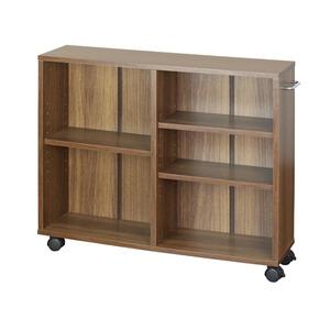 オープンラック木製収納ラックおしゃれマルチラックラックシェルフクローゼット押入れ書棚収納幅78×奥行25×高さ64cmブラウン