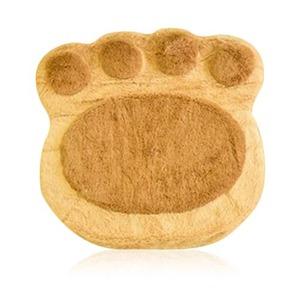 猫犬雑貨猫座布団かわいいクッション肉球クッション座布団肉球雑貨アニマルクッション高反発ふわふわ3色手形ペットグッズベージュ