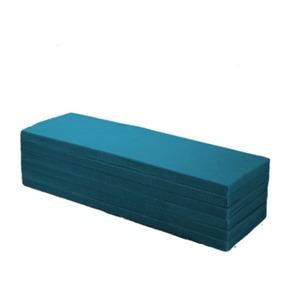 6つ折りマットレス/寝具【Sシングルサイズ】幅97×長さ210cm薄型厚み40mm高密度ウレタンフォーム藍色