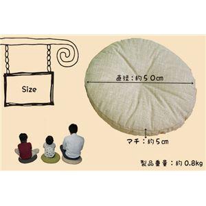 丸型座布団/円形クッション 【小 ベージュ】 50×50×5cm ボリューム感 ソフトな肌触り